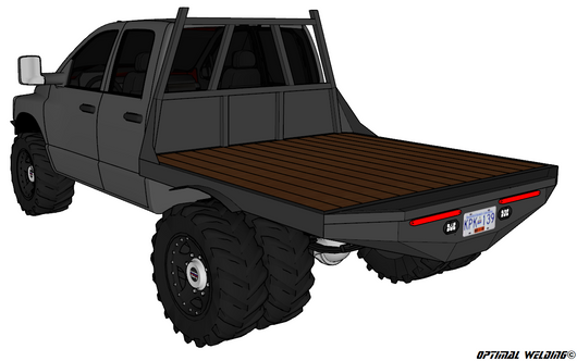 Welding Beds For Sale >> 03-14 DODGE SHORT BOX DRW FLATBED DECK PLANS – Optimal Welding