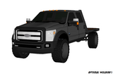 99-14 FORD LONG BOX SRW FLATBED DECK PLANS