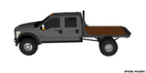 99-14 FORD LONG BOX DRW FLATBED DECK PLANS