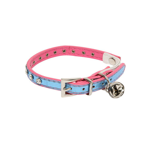 Rufus & Coco Diamante Cat Collar - Blue