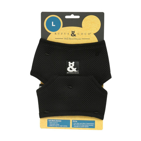 Rufus & Coco Soft Mesh Dog Harness - Black