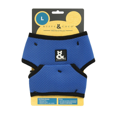 Rufus & Coco Soft Mesh Dog Harness - Blue