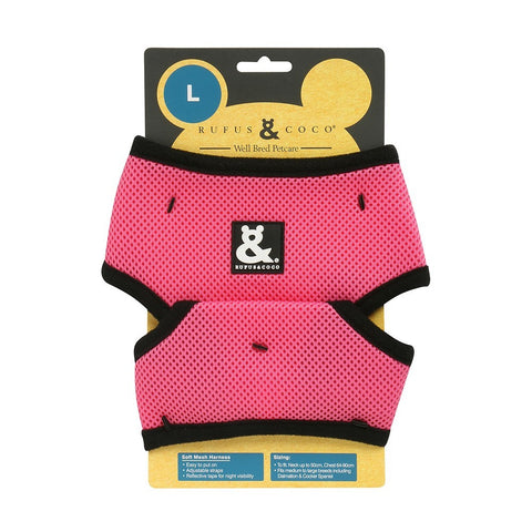 Rufus & Coco Soft Mesh Dog Harness - Pink