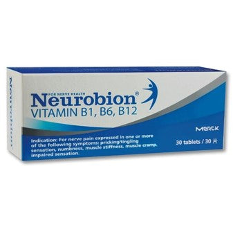 Neurobion Vitamin B1, B6, B12 Tablets (30'S) x 3