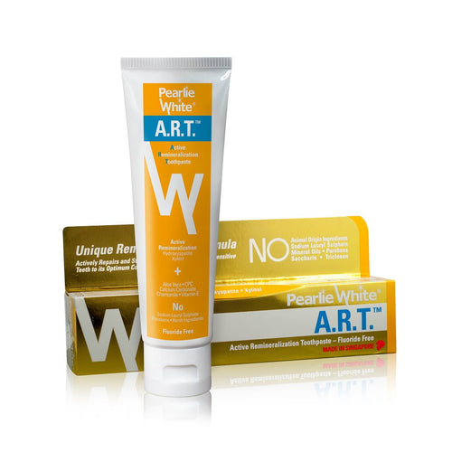 Pearlie White A.R.T. Active Remineralization Fluoride-Free Toothpaste