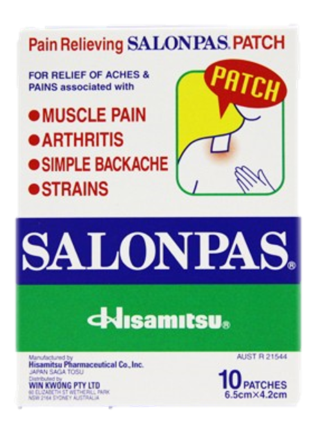 Salonpas Medicated plaster 10's