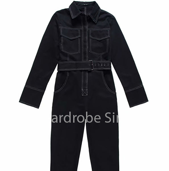 Korean Kellie Stitches Loose Jumpsuit