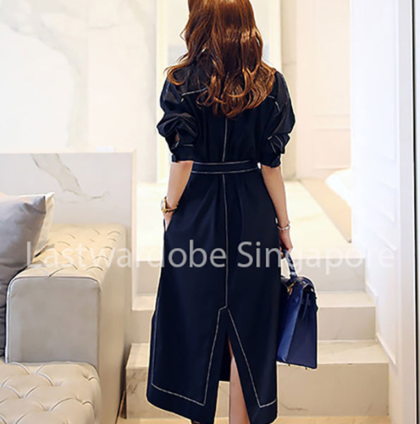 Korean Loene Split Dress