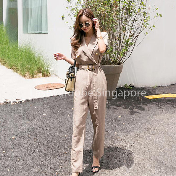 Korean Jamie Cargo Jumpsuit