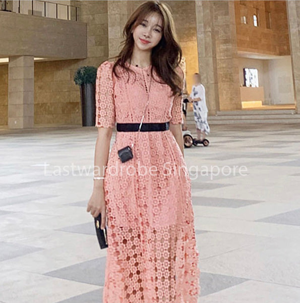 Korean Silvia Hollow Out Dress
