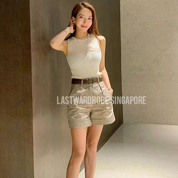 Korean Olivia Two Piece Tank Top Set
