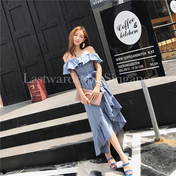 Korean Zoey Ruffle Dress