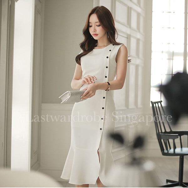 Korean Harper Fishtail Dress