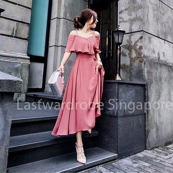 Korean Avery Ruffle Dress