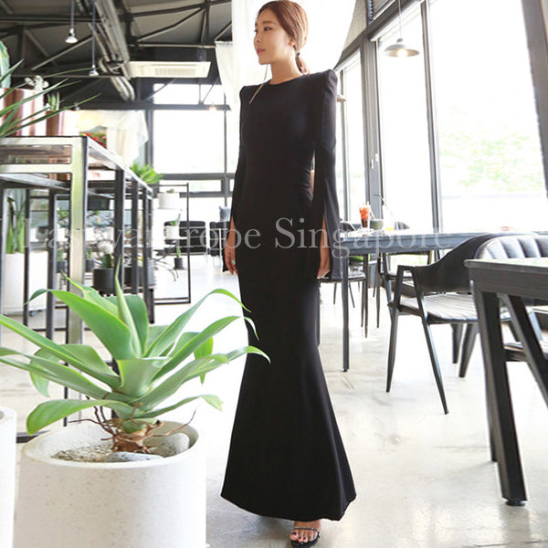Korean Leanne Maxi Fishtail Dress