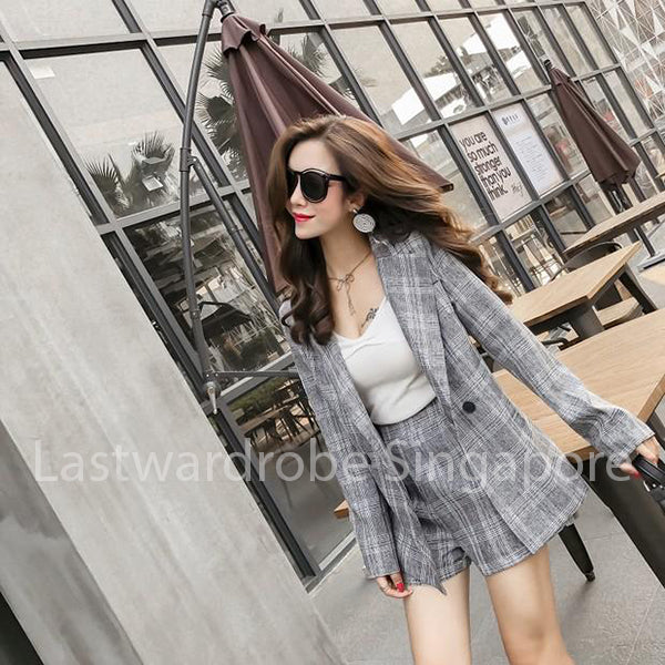 Korean Alexa Two Piece Suit