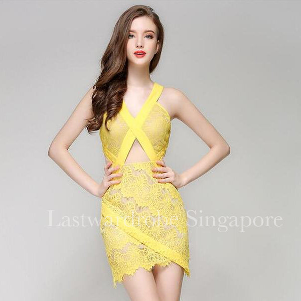 Korean Gysia Semi Lace Dress