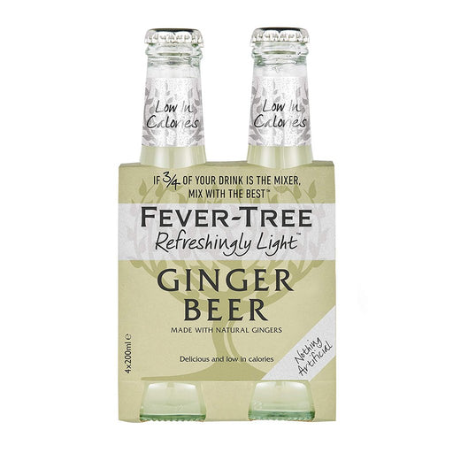 FEVER TREE NATURAL LIGHT GINGER BEER | 4PK