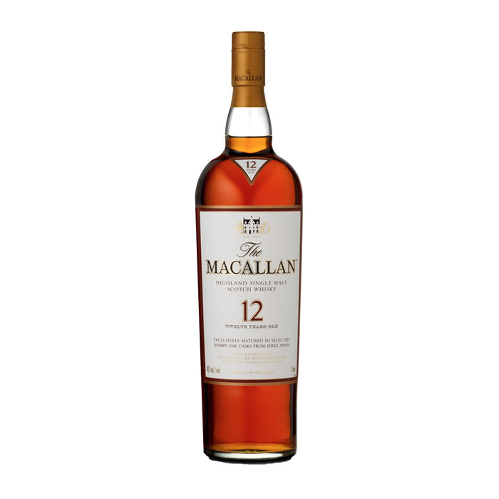 "THE MACALLAN ""SHERRY OAK"" 12YRS SINGLE MALT SCOTCH 
