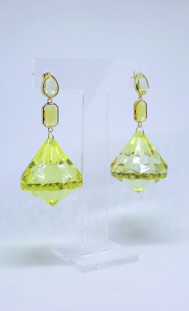 Canary Yellow Drop Earrings