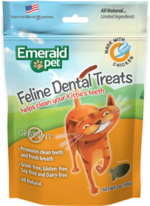 Snacks Emerald Pet Cat Snack Dental Pollo para Gatos  a domicilio en Bogotá - Petit Paws
