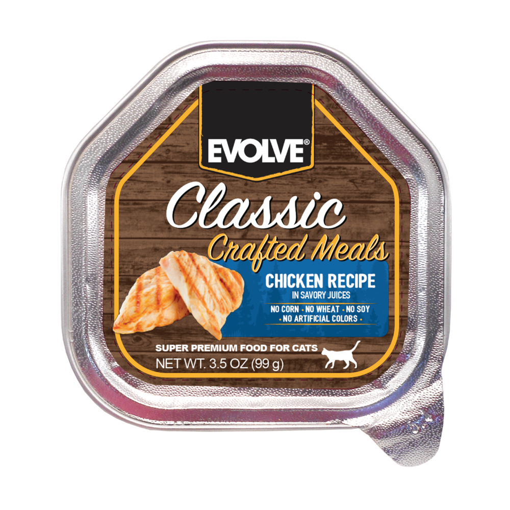 Evolve Cat Classic Crafted Meals Pollo - Alimento Húmedo para Gatos