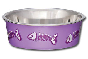 Fish Skeleton Lilac Bowl - Comederos para Gatos