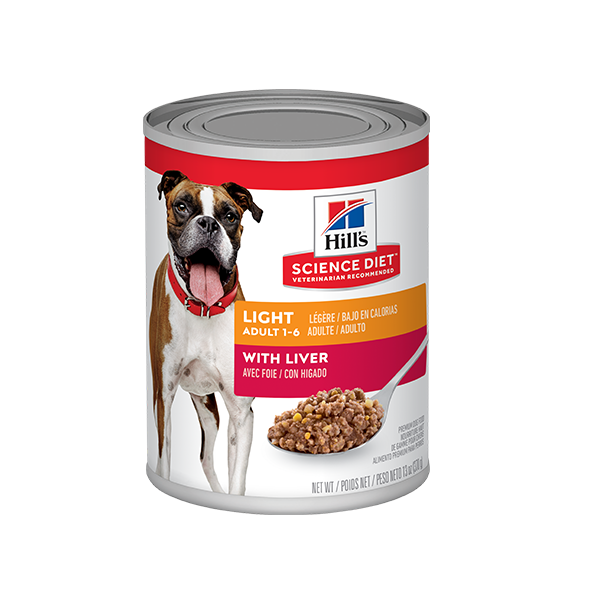 Hill's Science Diet Adult Light With Liver Lata - Alimento Húmedo para Perros