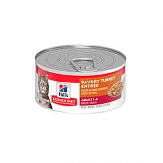Hill's Science Diet Adult Savory Turkey Entrée Lata - Alimento para Gatos