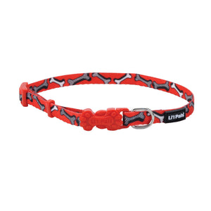 Li'l Pals Adjustable Collar Red and White Bones - Collares para Perros