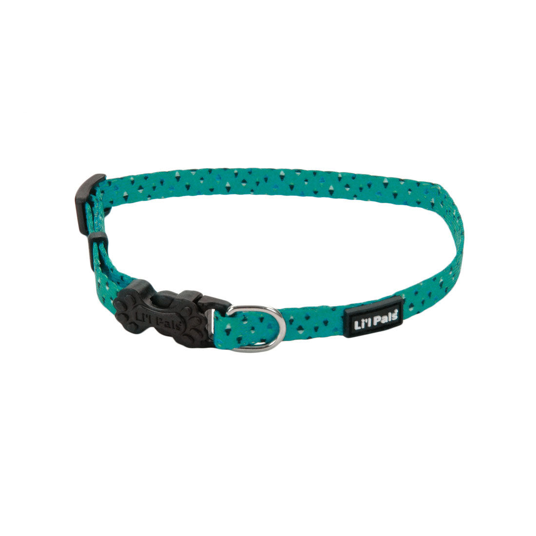 Li'l Pals Adjustable Collar Teal and Grey Diamonds - Collares para Perros