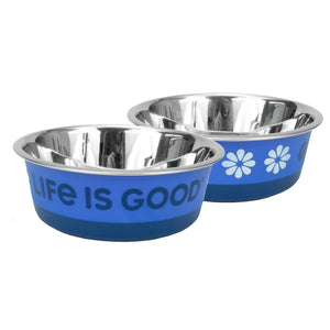 Maslow Life is Good Stainless Blue Bowl - Comederos para Perros