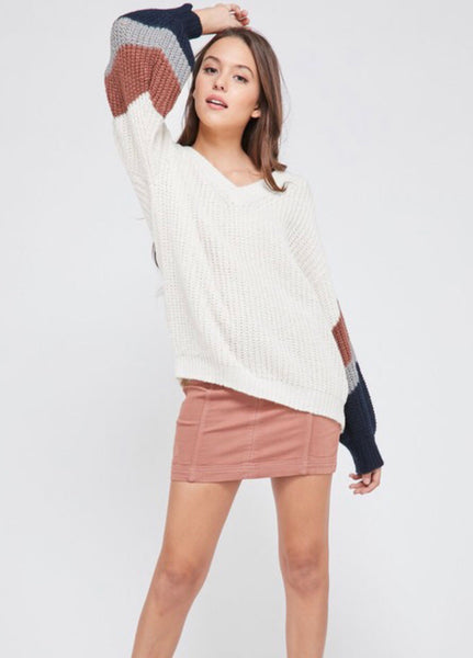 The Kallie color block sweater