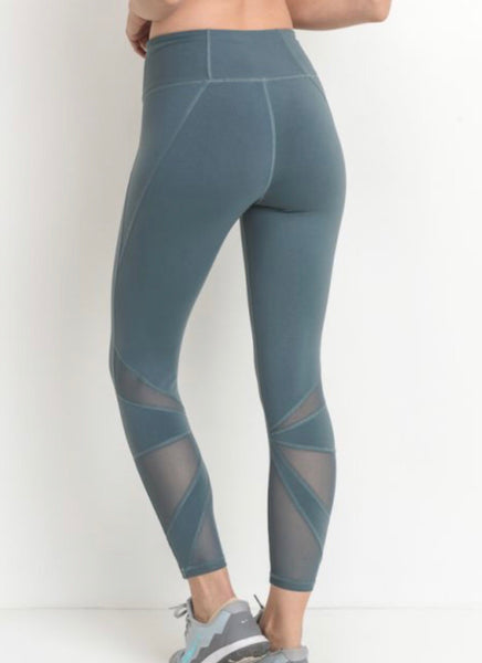 Teal Star mesh Legging