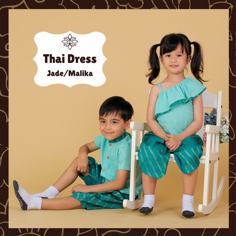 Thai dress for kids made of cotton