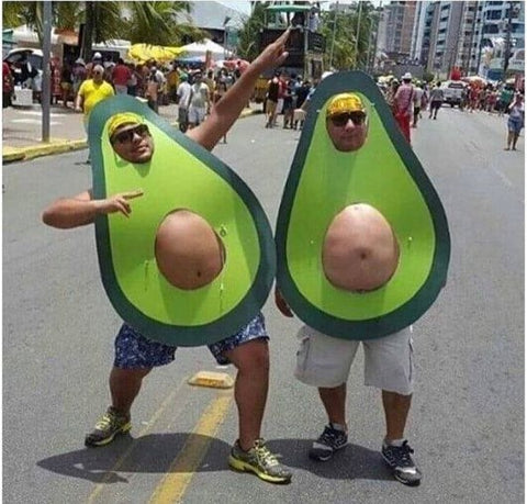 Avocado theme costume for men