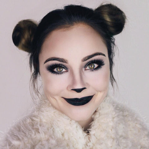 panda makeup for halloween
