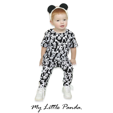 black panda outfit for kids