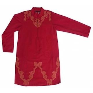 Applique kurta set in tomato - Nick & Nishka