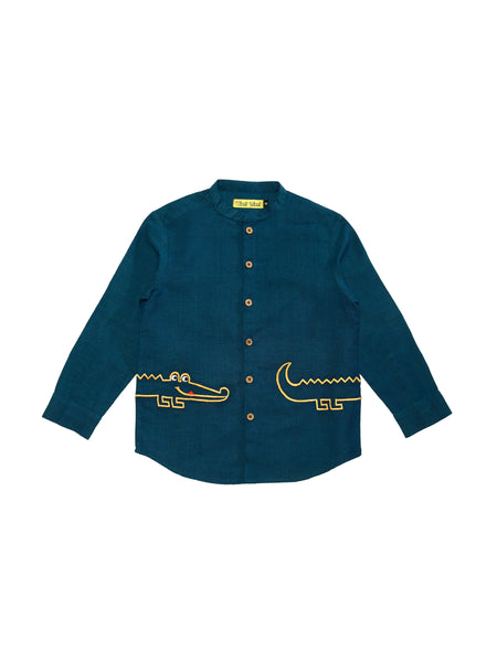 Crocky Teal Shirt - Nick & Nishka