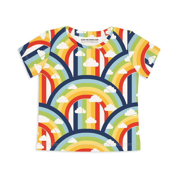 Rainbow and Rain - short sleeves unisex tee - Nick & Nishka