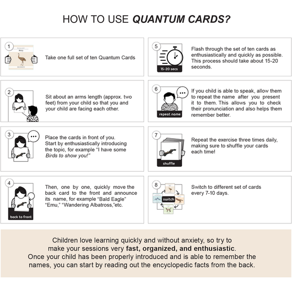 How to use quantum cards