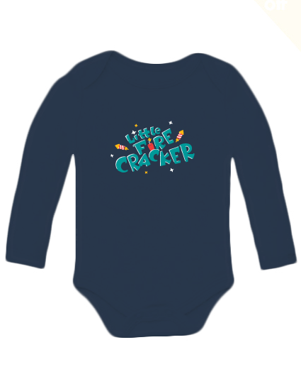 Little fire cracker full sleeves bodysuit - Nick & Nishka