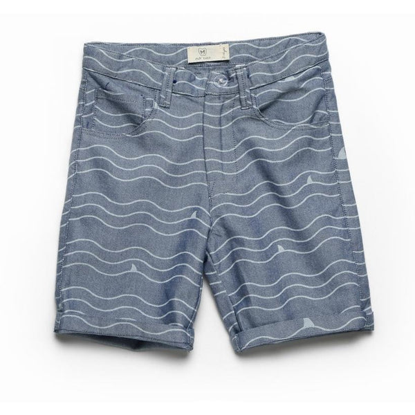whale blue short for kids 100% cotton