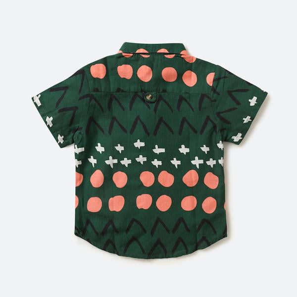 Green mandala shirt - Nick & Nishka