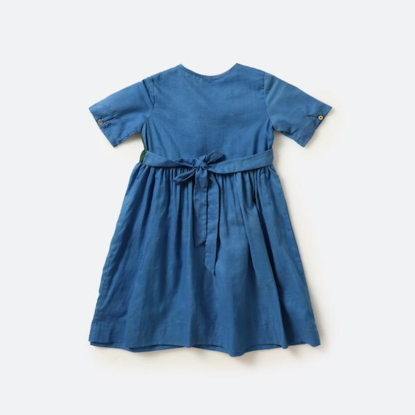 Blue minimalist dress - Nick & Nishka