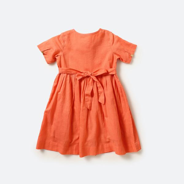 Peach minimalist dress - Nick & Nishka