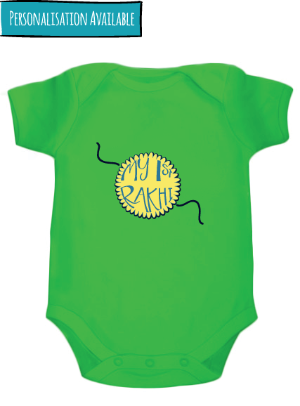 My 1st rakhi- Customized bodysuit - Nick & Nishka