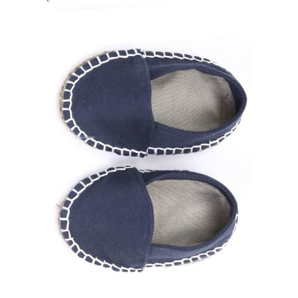 blue organic cotton espadrille kids
