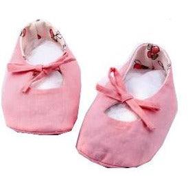 Organic GOTS cotton pink shoes for baby